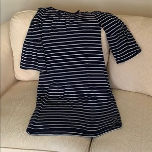 White House black market XS navy stripe dress